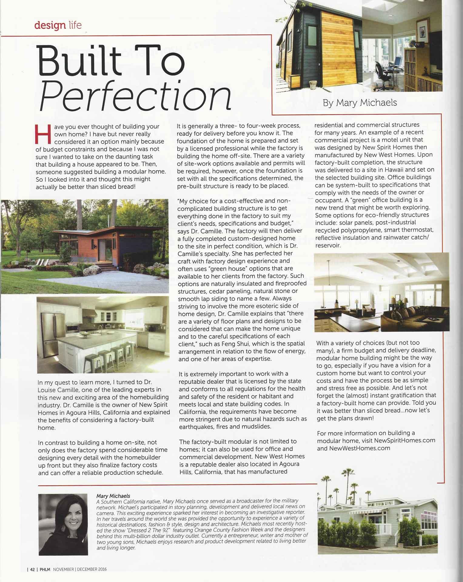 Westlake Magazine Article November/December 2016